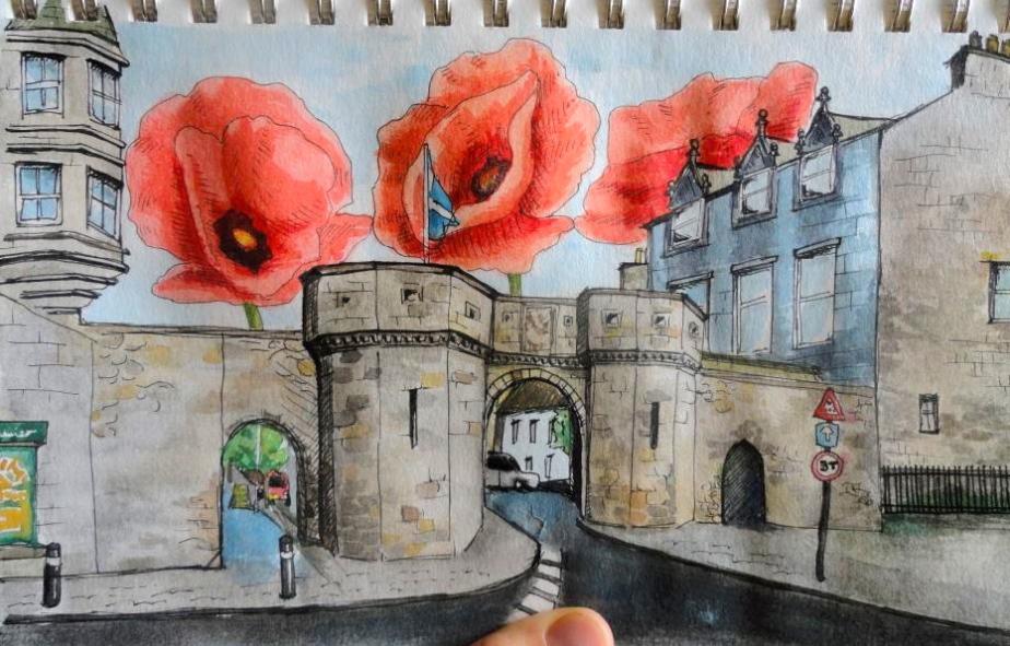 Poppies over Westport