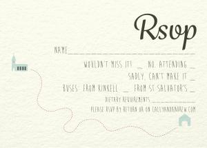A6 Cream RSVP Card