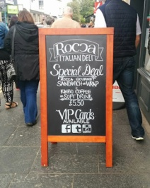 Chalk sign Rocca