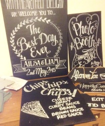 Chalk Signs Ailsa's Wedding copy